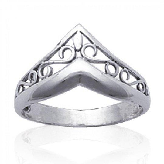 Bague couronne celtique Argent - Bague de pouce index...