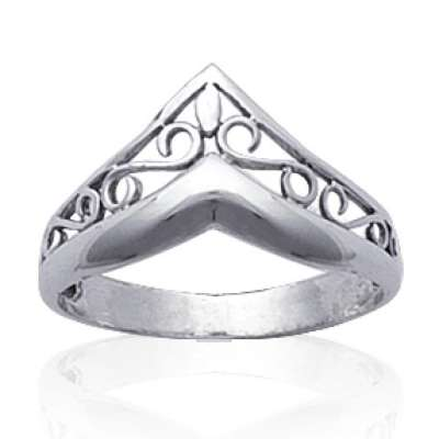 Ring couronne celtique Argent - Ring de pouce index...
