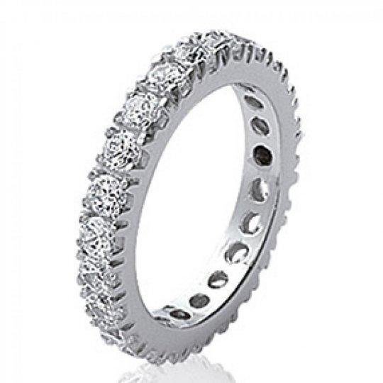 Ring d'éternité zirconium Argent Rhodié - Women - Grande...