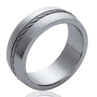 Ring Bangle Steel cable 316L pour for Men