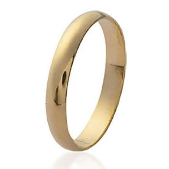 Anillo de bodas simple 3mm Chapado en Oro 18K Para Grabar...