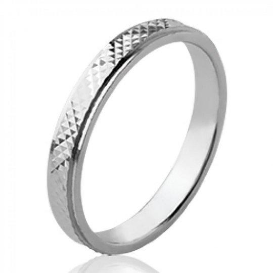 Ringe de mariage originale Memoirering Argent Rhodié - Damen
