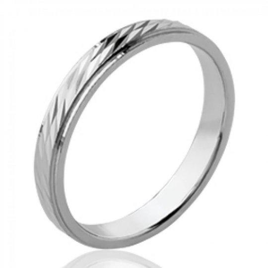 Ringe de mariage fine Memoirering Argent Rhodié - Damen