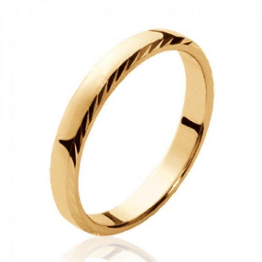 Bague de mariage Alliance simple Plaqué Or - Femme