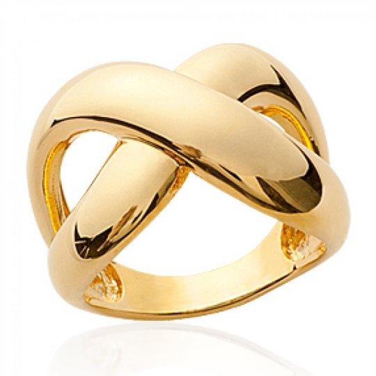 Grosse Ringe croisée Vergoldet 18k - Damen