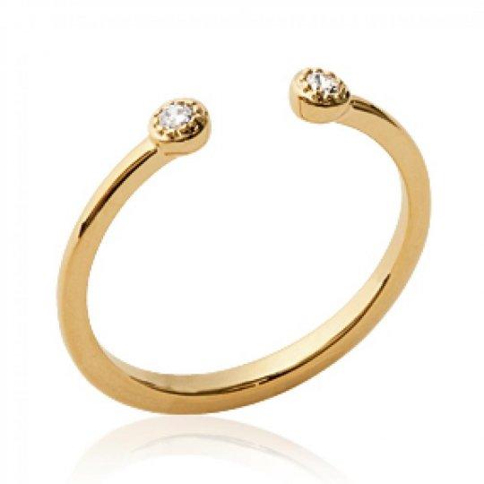 Ringe Ouverte Vergoldet 18k - Zirconium - Ringe de...