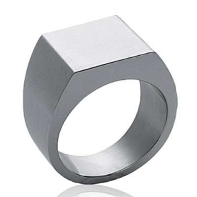 Ring Signet ring Acier 316L Engravable - for Men