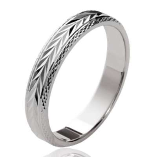 Ring de mariage Bay leaf Argent Rhodié - Wedding ring...