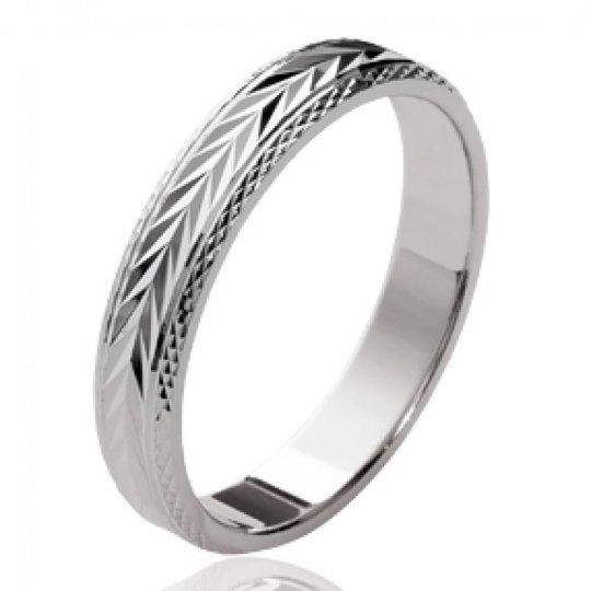 Ringe de mariage Lorbeer Argent Rhodié - Memoirering...