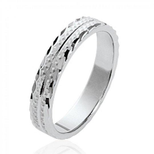 Ring de mariage originale Argent Rhodié - Wedding ring...