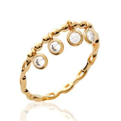Ring breloque pampilles fine Chain rigide Gold plated 18k...