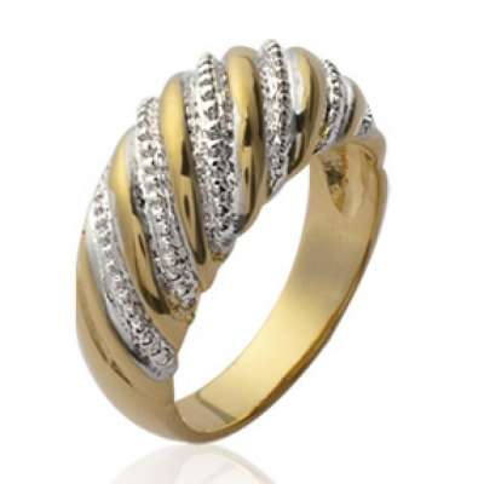 Anello dôme Bicolore Placcato in oro 18k - Donna