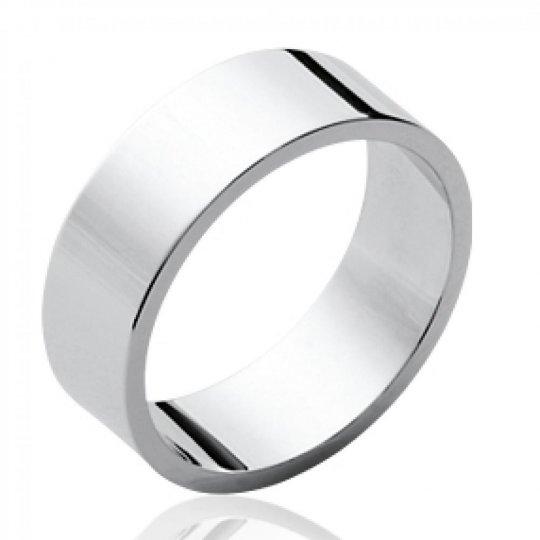 Ring Bangle plat Argent Rhodié pour for Men Women