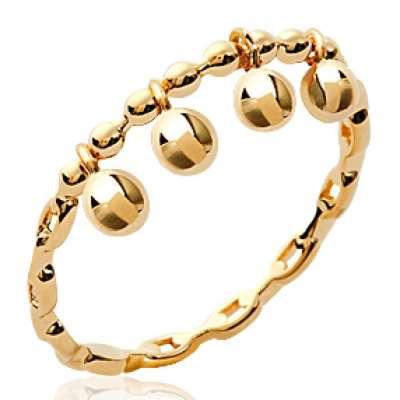 Ring breloques Gold plated 18k Chain rigide - Women