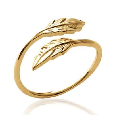 Ring Feathers Gold plated 18k - Women