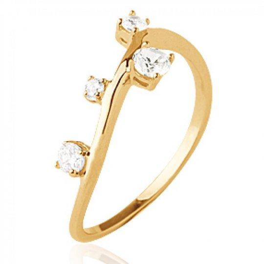 Ring branche de promesse originale Gold plated 18k -...