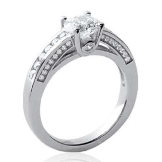 Ring Zirconium Solitaire 6mm Argent Rhodié - Ring de...