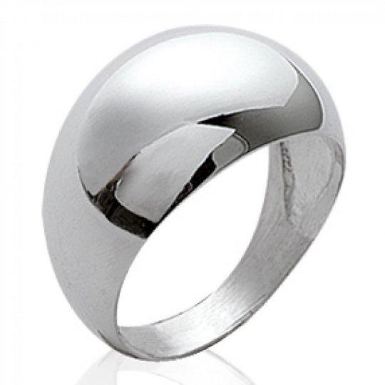 Grosse Ring dôme Argent - Women - petite et grande Size
