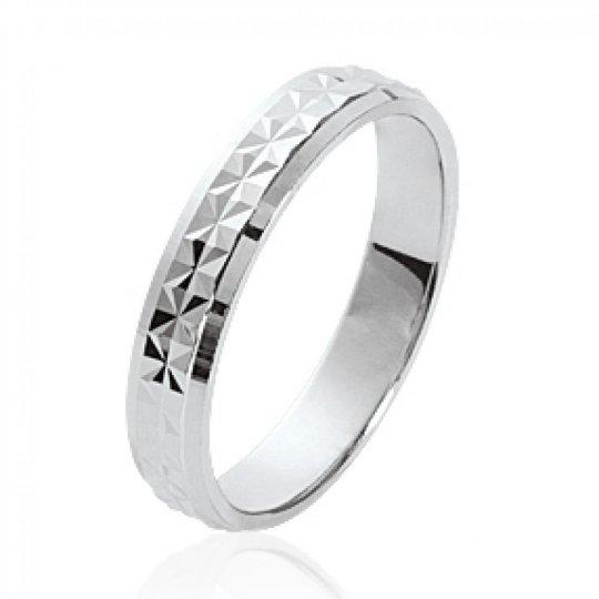Wedding ring Engagement mariage originale Argent Rhodié...
