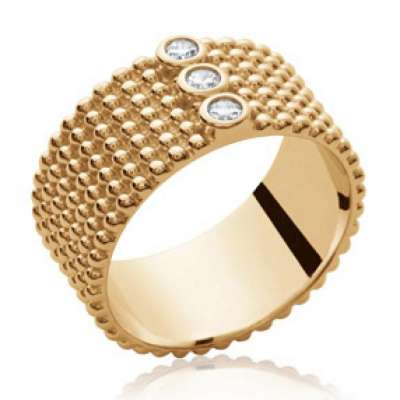 Anello Bracciale Bangle moderne Placcato in oro 18k -...