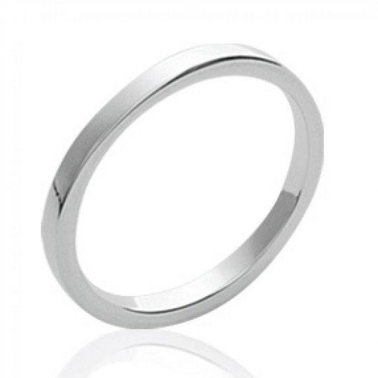Anillo de bodas fil carré Argent - Anillo de phalange &...