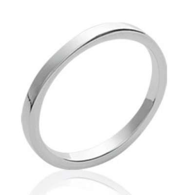 Wedding ring Engagement fil carré Argent - Ring de...