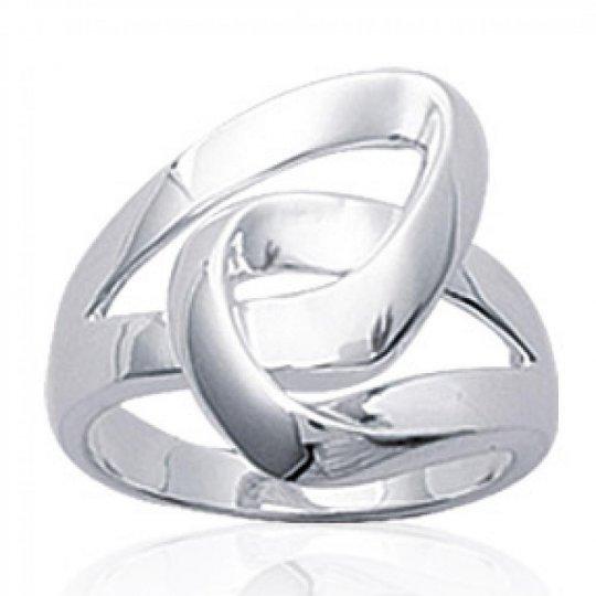 Ring boucles enlacées Argent - classique, index, pouce -...