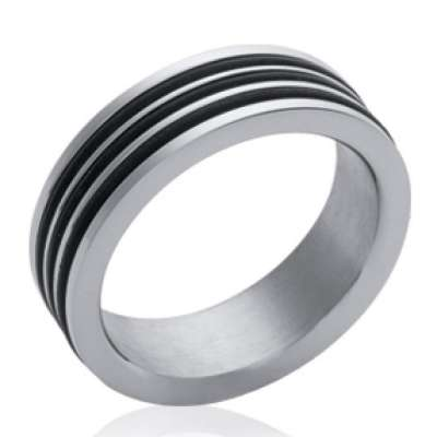 Ring Bangle Acier 316L - Cahoutchouc - for Men Women