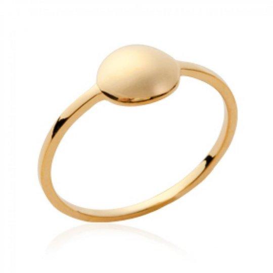 Ring fine avec petit rond Gold plated 18k - Women