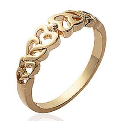 Ring Heart  Gold plated 18k - Ring grande Size & Ring...