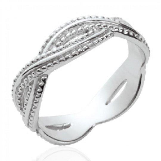 Ring tressée Argent Rhodié - Women