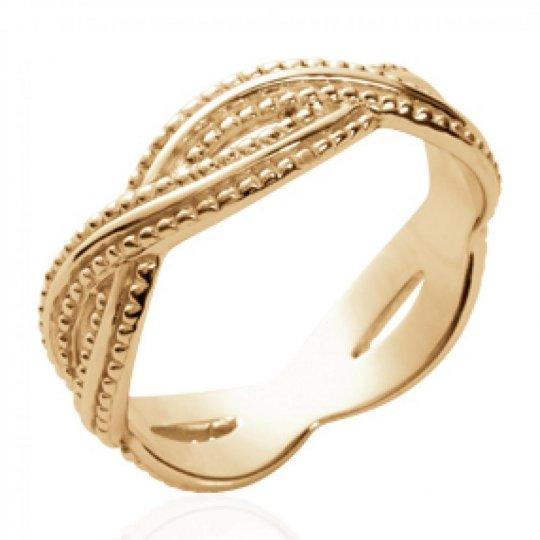 Anello croisée entrelacée Placcato in oro 18k - Donna