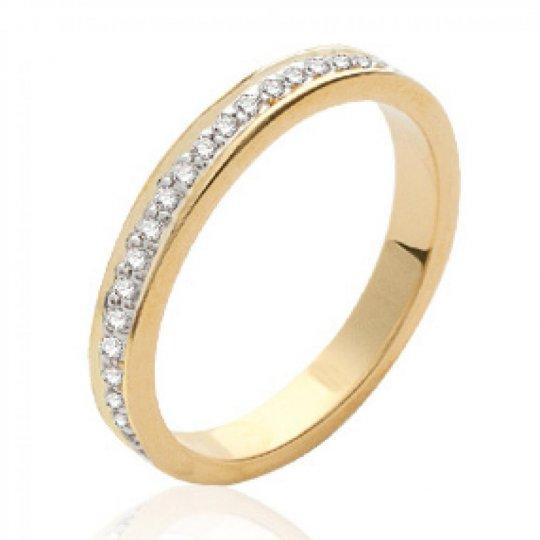 Wedding ring Engagement zirconium Gold plated 18k -...