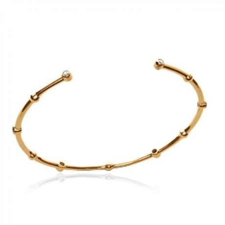 Bracciale Bangle pierres Placcato in oro 18k - Zirconia Cubica - Donna - 58mm
