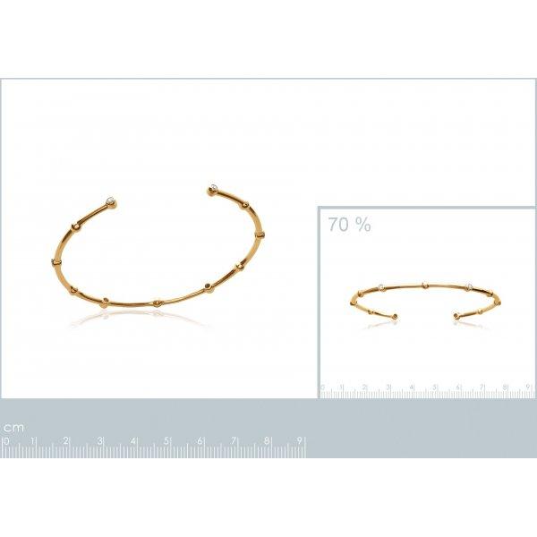 Bracciale Bangle pierres Placcato in oro 18k - Zirconia Cubica - Donna - 58mm