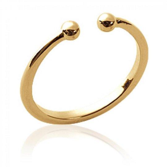 Ring ouverte avec de petites Balls Gold plated 18k - Women