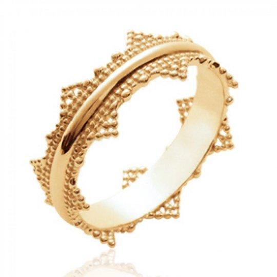 Ring fantaisie dentée Gold plated 18k - Women