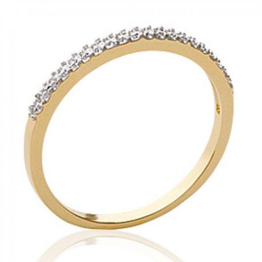 Fine Ring de promesse strass Gold plated 18k - Zirconium...