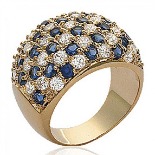 Ringe damier Vergoldet 18k - Grosse Ringe dôme originale...