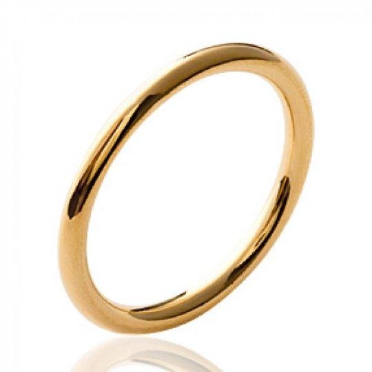 Bague anneau épais Plaqué Or - Femme