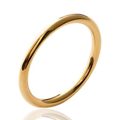 Ring anneau épais Gold plated 18k - Women