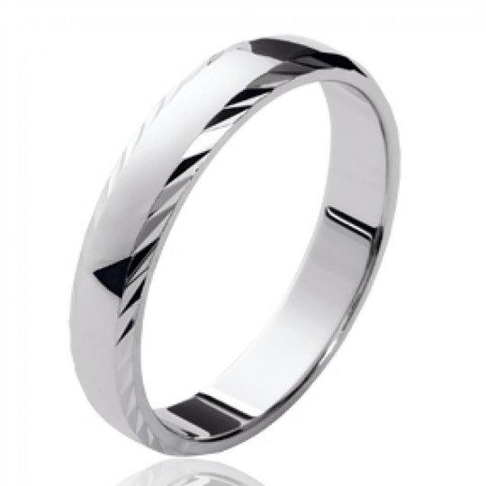 Ring de mariage parfaite pour couple Argent Rhodié - Mixte