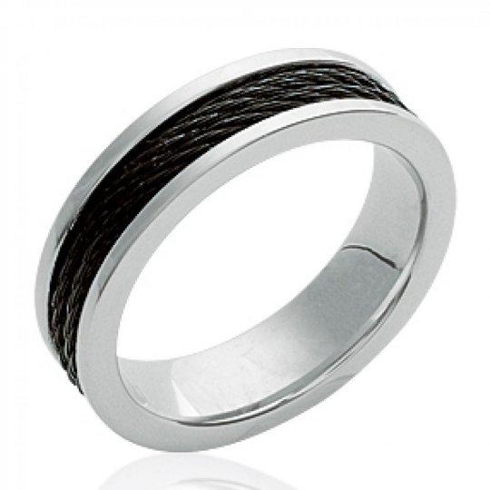 Ringe Armband Schwarz Acier 316L - Ruthenium - Männer