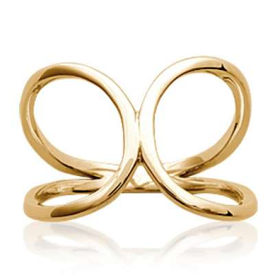 Ring grandes boucles Infinite Gold plated 18k - Women