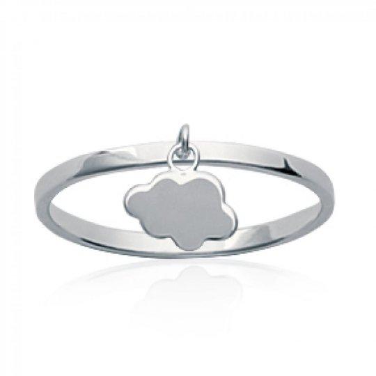 Ring breloque nuage Argent Rhodié - Women
