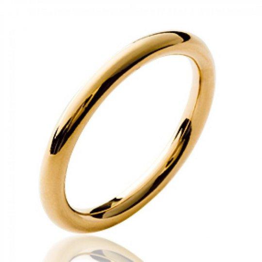 Bague anneau simple épais Plaqué Or - Femme