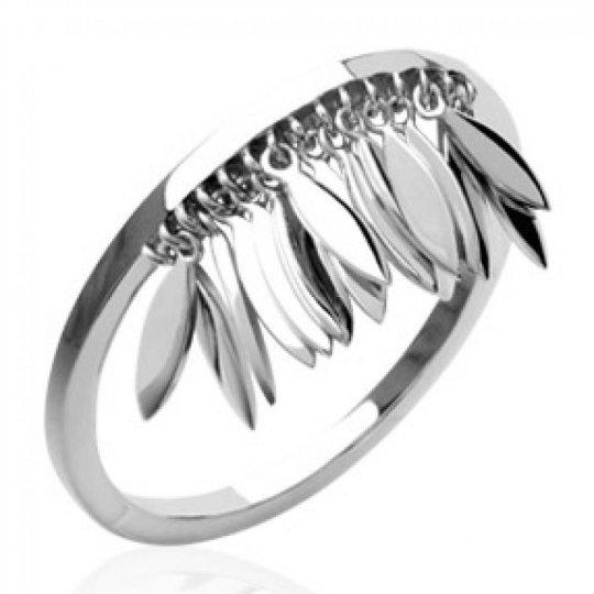 Ring breloques Feathers Indiannes aztèque bohème Argent...