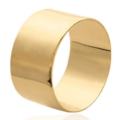 Ring tube lisse Gold plated 18k - Women