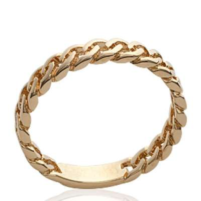 Ring gourmette Gold plated 18k - Women