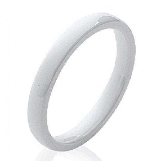 Bague fine céramique blanche - Femme
